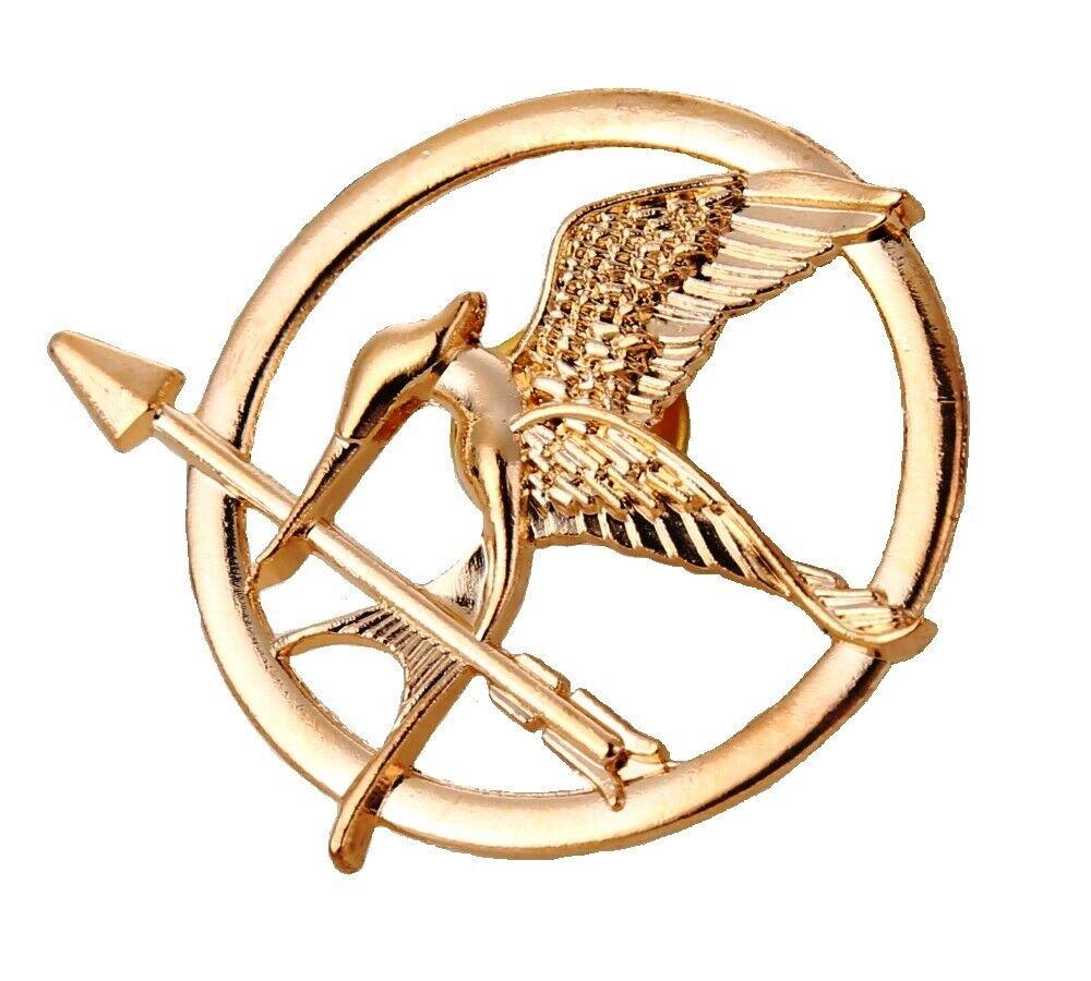 Hunger Games Mocking Jay Bronze Brooch Pin Badge Katniss Arrow Bird Badge NEW