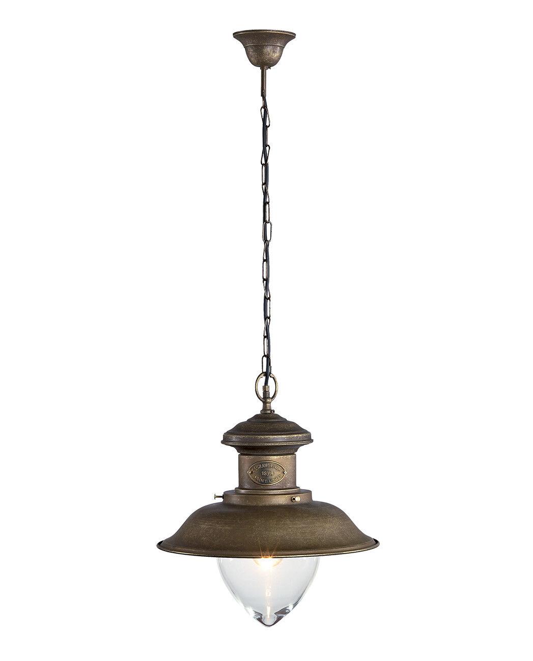 Lustre suspension en laiton avec verre lumière marine lumière verre 40 cm mesure grande 23a753