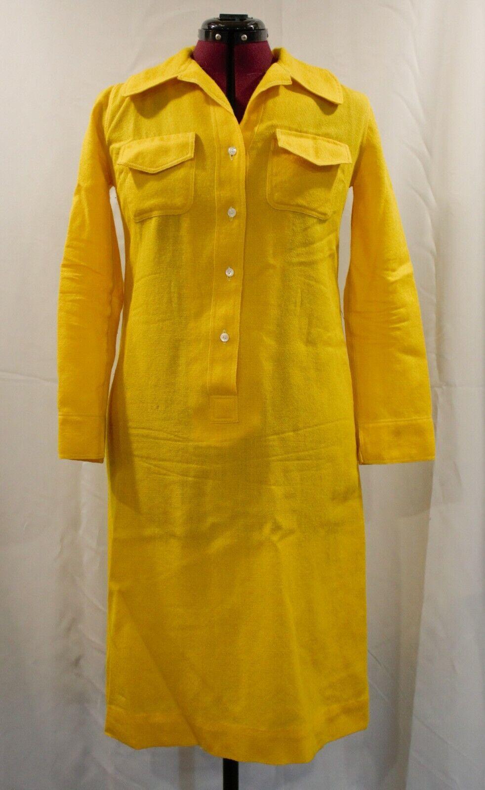 Vintage 1960's Donald Davies Bright Yellow Collar… - image 1