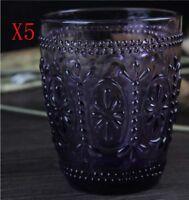 New 5X Capacity 300ML Height 100MM Retro Creative Purple Wine Glass/Glassware %