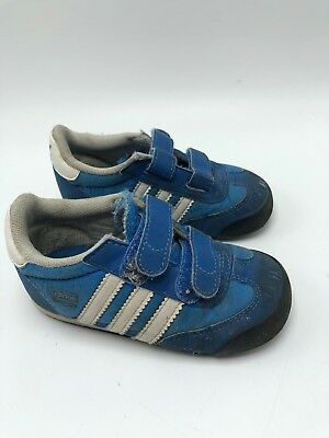 Adidas Originals Dragon Crib Shoes Baby Infant Size 5K 5 Blue White Stripe   eBay
