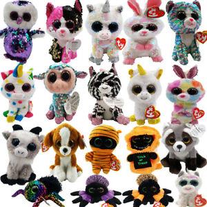 "35 Styles Ty Beanie Boos 6/"" Stuffed Plush Kids Toy Animal Plush Doll XMAS Gift"