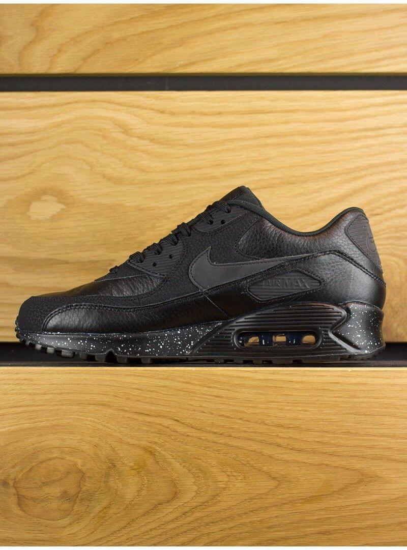 Nike AIR MAX 90 BLACK OREO SPECKLED PREMIUM / METALLIC SILVER SPECKLED OREO SZ 11.5 SUPER RARE 5df489