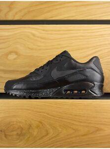 6fcef12ac2 Nike AIR MAX 90 BLACK OREO PREMIUM   METALLIC SILVER SPECKLED SZ ...