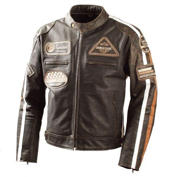 Retro, vintage,  chaqueta chaqueta de cuero, motorcycle, chopper tamaño s hasta 5xl  save 60% discount