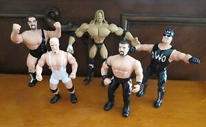 Vintage Rare WCW Wrestler Poseable Figures 1998 - (5) Figures