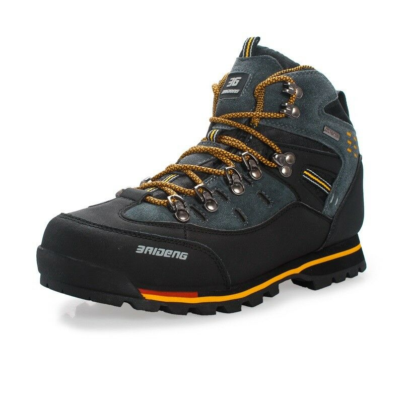 Sie Outdoor Hiking schuhe Waterproof Leather Stiefel for Climbing & Fishing Sport