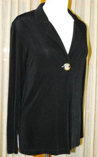 Jacket Slinky Classic Travellers 6 0 Størrelse Button Sort Chico's 4 5TqtwX5x