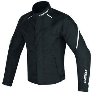 Dainese-Laguna-Seca-D1-D-Dry-Giacca-Sportiva-Impermeabile-Moto-Nero-Bianco