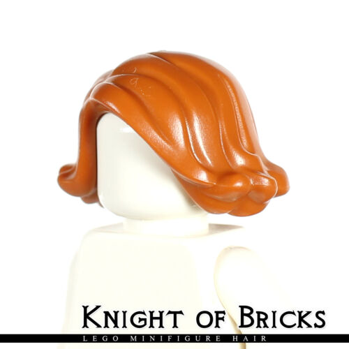 LEGO Minifigure Hair DARK ORANGE 20877 Female Girl Short Swept Sideways Curled