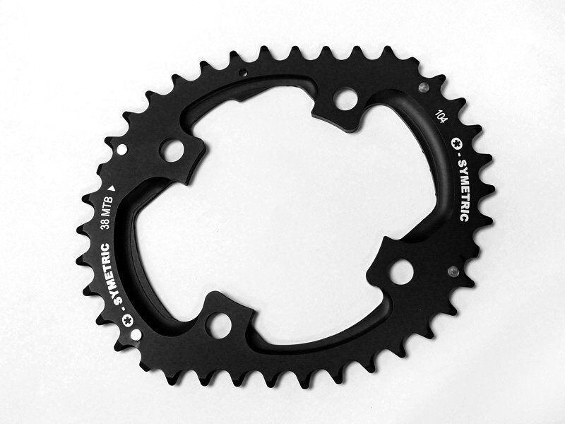 Osymetric Mountain Bike Plato Sram X0 BCD104x4 38T