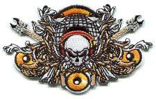 SKULL & GUITARS Iron On PATCH **Free Shipping** - Rock 'n Roll punk metal vinyl