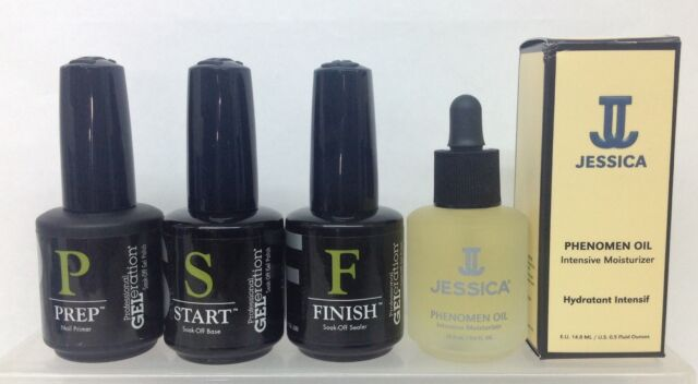 Jessica GELeration- Soak-off 4pcKit - PREP+ START + FINISH + PHENOMEN OIL 0.5oz