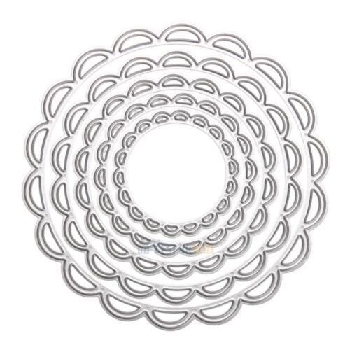 8PCS Circle Metal Cutting Dies Stencils DIY Scrapbooking Album Paper Card Craft