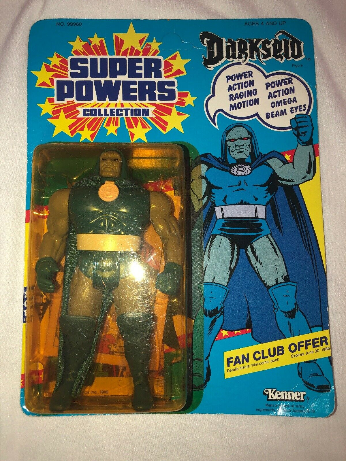1985 Kenner Super Powers  DARKSEID Action Figure, New Never Opened