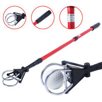 Retractable Golf Ball Retriever Scoop Telescopic Pick Up Grabber Shaft Tool