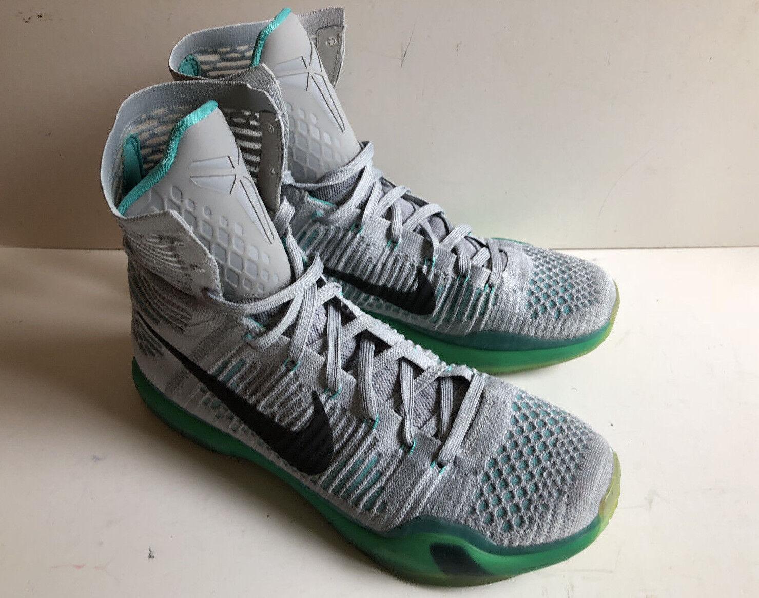 Nike Kobe 10 X Elite Elevate Wolf Grey Size 10.5 Basketball Shoes 718763-041