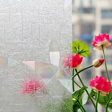 No-Glue 3D Static Cling Home Window Film Stained Glass Paper Frosted Privacy