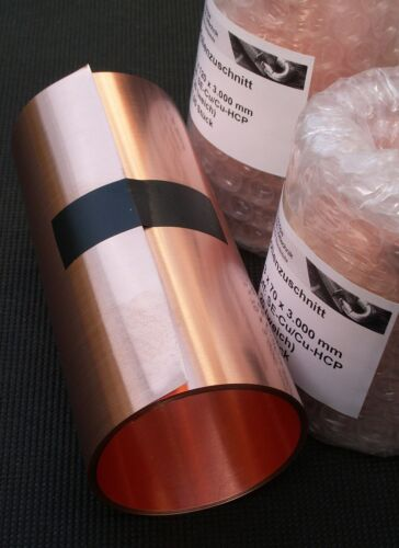 Cuivre film cuivre tôle 3,00 M se-cu 0,10 mm x 160 MM