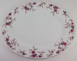 15-034-Oval-Serving-Platter-Minton-Ancestral-S-376-vintage-bone-china-England