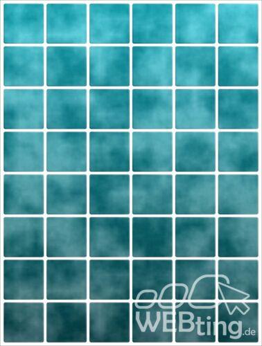 15x20cm Türkis Fliesenaufkleber Fliesen Aufkleber Fliesenimitat Mosaik M6
