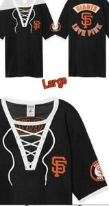 ae54451bf47 new VICTORIA S SECRET PINK san francisco GIANTS jersey shirt s