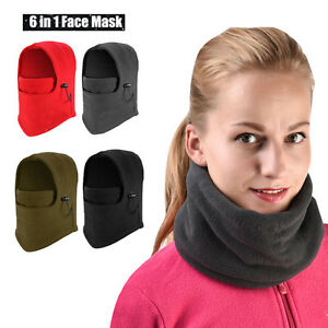 Details about Winter Warm Fleece Balaclava Ski Motorcycle Neck Face Mask Hood  Hat Helmet Cap bd22352c869