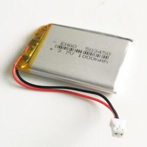 3-7V-1000mAh-JST-PH-2-0-Polymer-lipo-Battery-For-MP3-GPS-Recorder-Camera-503450