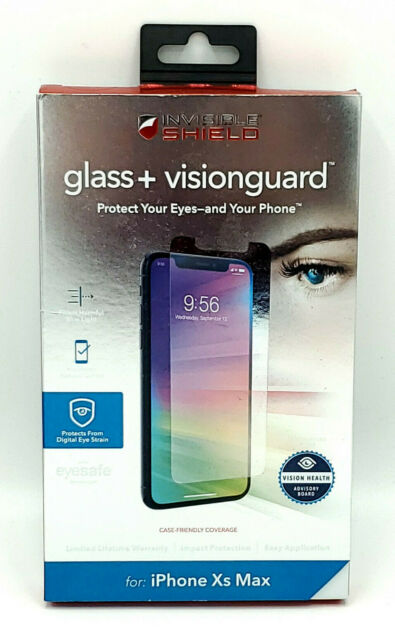 """New Glass+Visionguard Glass Screen Protector by Zagg for 6.5"""" iPhone 11 Pro Max"""