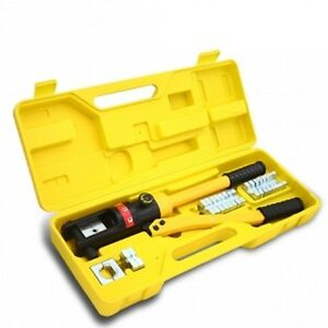 16 Ton Hydraulic Wire Crimper Crimping Tool Battery Cable Lug Terminal w//11 Dies