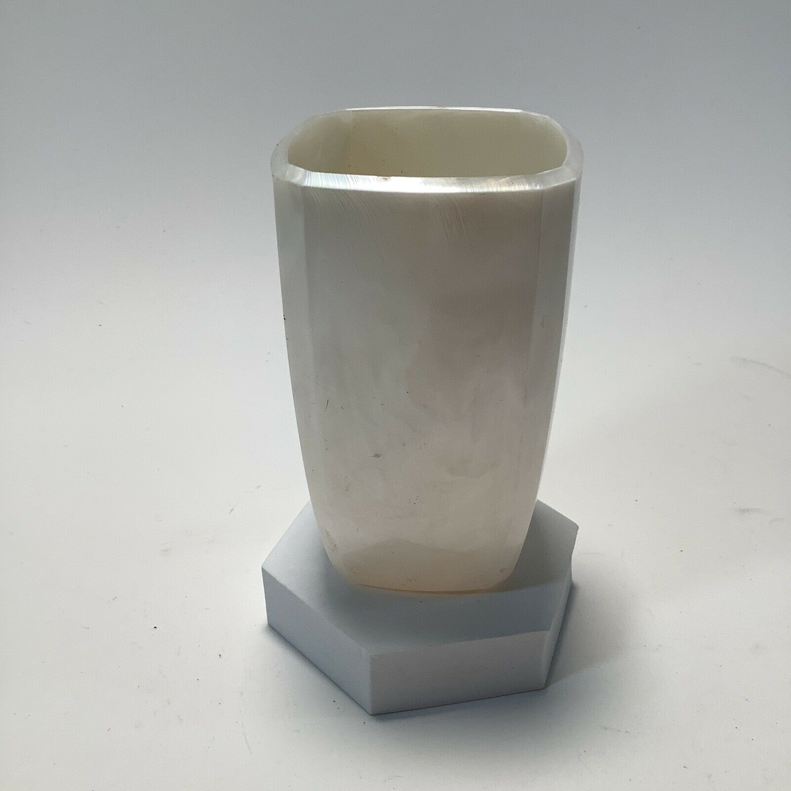 Tooth Brush Holder Bathroom Cup Pearl Colored