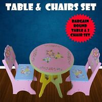 Toddler Table And Chair Round Fairy Butterfly Kids Furniture