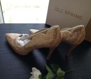 Debenhams-Call-It-Spring-Women-light-pink-sparkle-high-heel-shoes-size-6-39