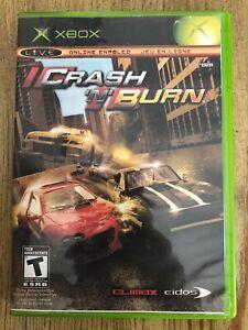 Crash-N-Burn-Microsoft-Xbox-Complete-W-box-amp-Manual