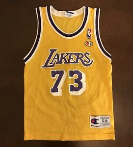 bd4f019127b5 Image is loading Vintage-Champion-NBA-Los-Angeles-Lakers-Dennis-Rodman-