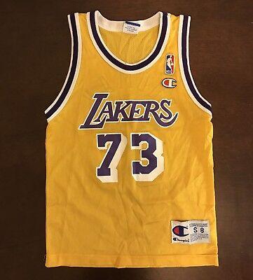 wholesale dealer 0a777 7cc53 Vintage Champion NBA Los Angeles Lakers Dennis Rodman Basketball Jersey  Youth S | eBay