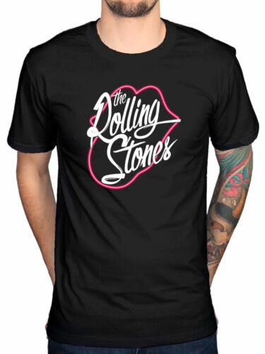 Official Rolling Stones Neon Lips T-Shirt Love You Live Shine A Light Bigger Ban