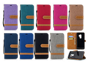 Pour-Samsung-S9-S8-S8-Edge-Multicolore-Flip-Phone-Case-Full-Cover-avec-carte-Clip