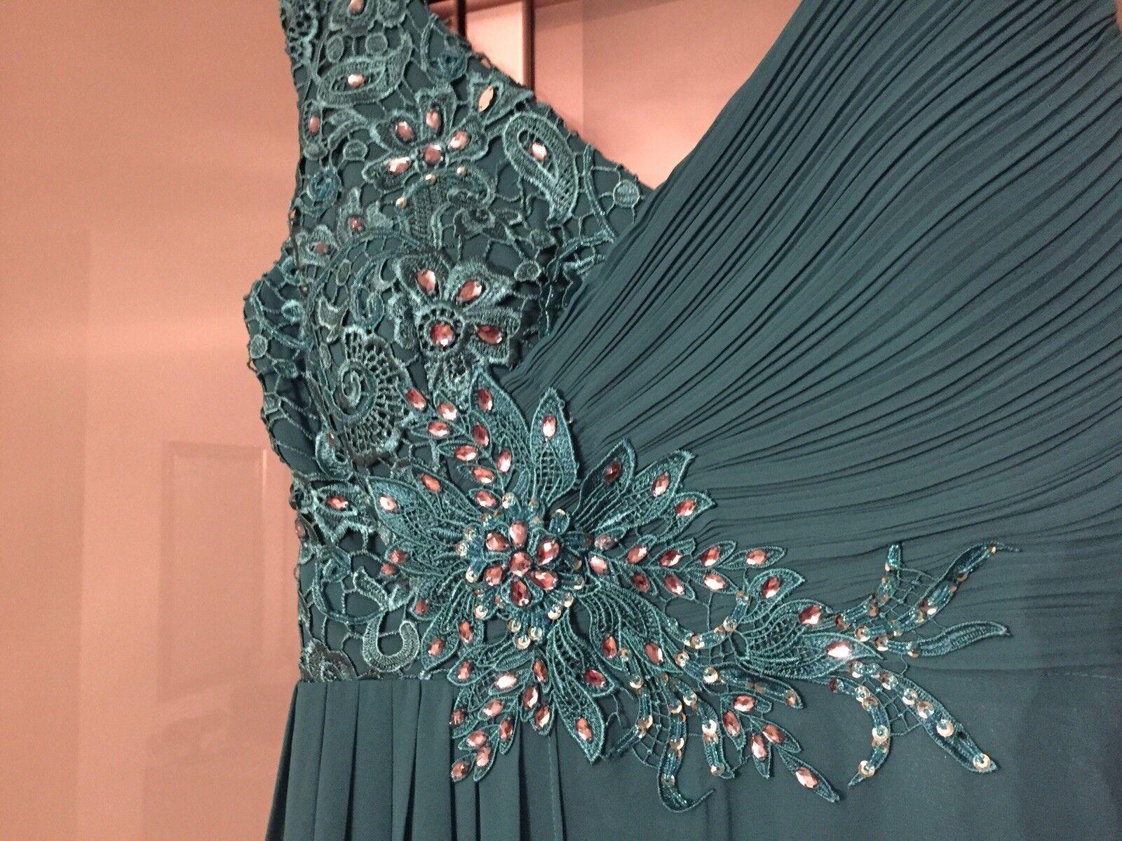 Omonsim Kleid Abendkleid inkl.Stola In Türkis Gr.38