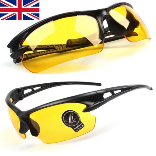 Outdoor Sports Cycling Driving Fishing Sun Glasses Goggle UV400 Lens yellow