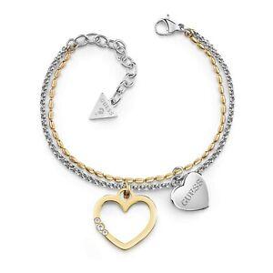 Guess-UBB78098-Damen-Armband-zweifarbig-Kristall-neu
