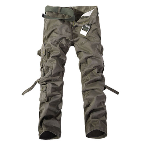 Camping Hiking Army Cargo Combat Military Mens Trousers Camouflage Pants Casual