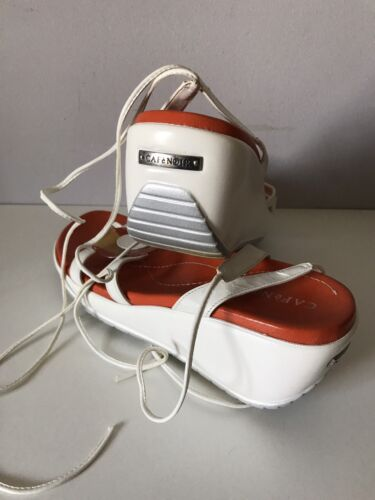 Sandals 39 Gladiators Størrelse Leather Italian Cafènoir Strappy Wedge adXxaA0