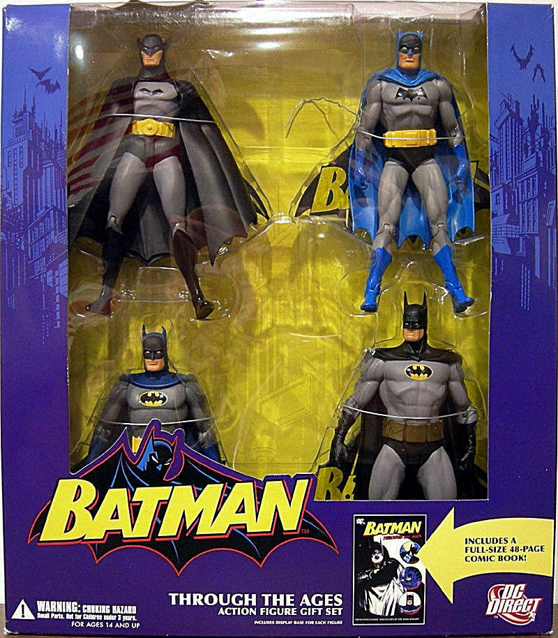 DC Direct Batman Super Friends 1st Appearance Golden Age Through The Ages + Book