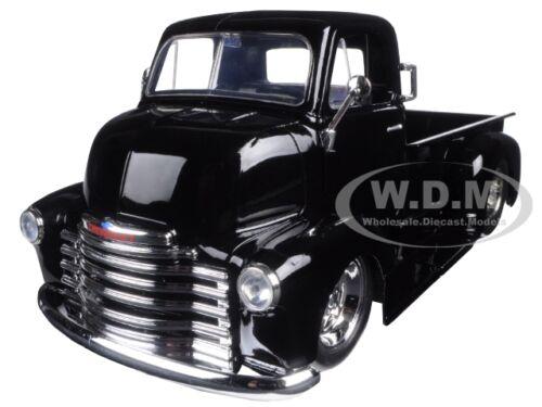 1952 CHEVROLET COE PICKUP TRUCK BLACK W// CHROME WHEELS 1//24 MODEL BY JADA 97462