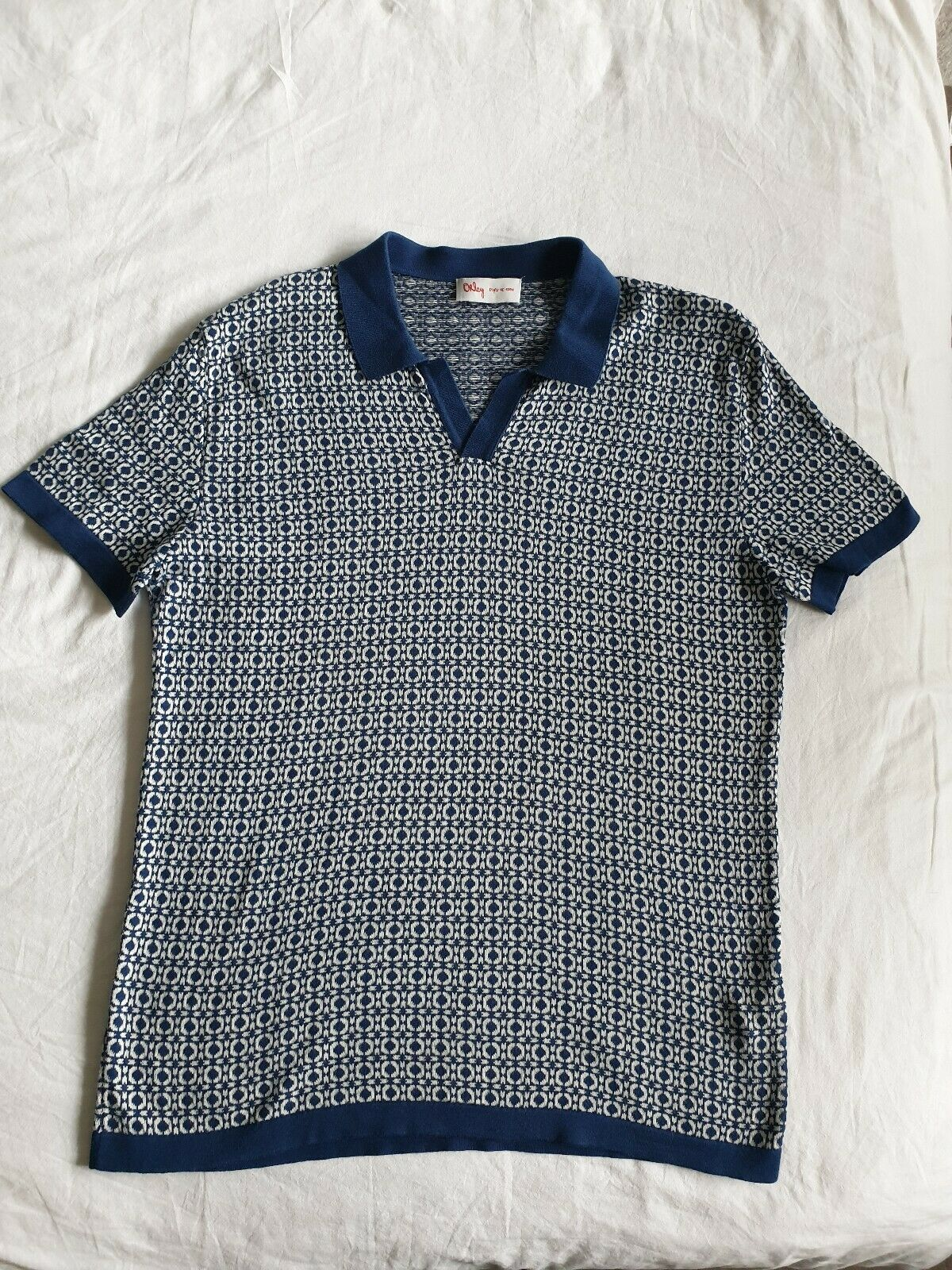 Orley Geometric pattern Polo Size L fantastic condition