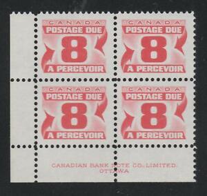 "1973-74 Canada SC# J34iii LL ""Third Issue"" Postage Due LF Plate Block M-NH #B74c"