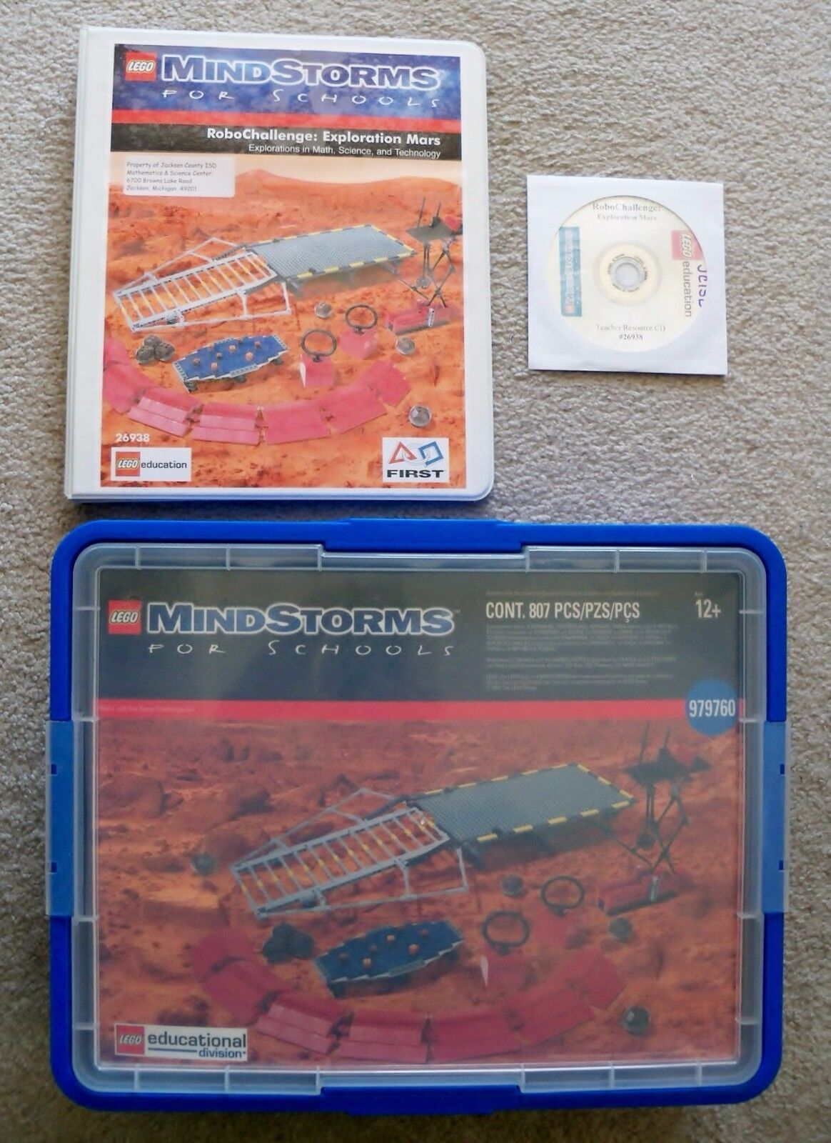 LEGO Educational Mindstorms RCX - - - Rare - 979760 RoboChallenge  Exploration Mars 819a5e