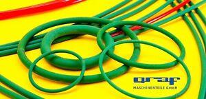 PU Rundriemen Antriebsriemen 4-10 mm Durchmesser, grün rau, METERWARE 1Stk.=1m