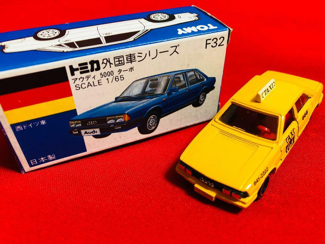 Tomica F32 Audi 5000 Turbo 1 65 TAXI Yellow Cab Made in JAPAN Rare Free shipping